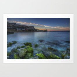 Sunset at Paradise Bay Malta Art Print