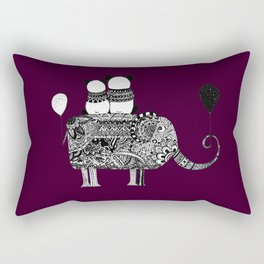 Panda. Love. Elephant travel Rectangular Pillow