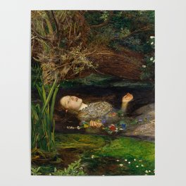 Ophelia from Hamlet Oil Painting by Sir John Everett Millais Poster