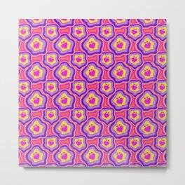 'I Love You Umlaut' Valentine's Pattern - Neon & Bright Metal Print