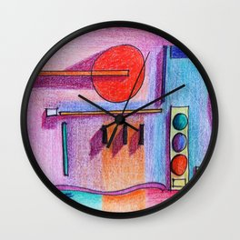 blue light Wall Clock