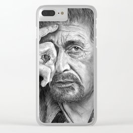 Al Pacino Clear iPhone Case