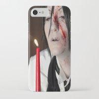 kuroshitsuji iPhone & iPod Cases featuring Sebastian Michaelis - Contract by Lalasosu2