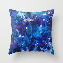 Oceanic Ink Throw Pillow