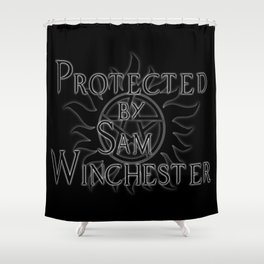 Protected by Sam Winchester Shower Curtain