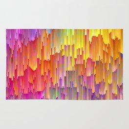 Vibrant Rainbow Cascade Design Rug