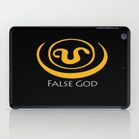 stargate iPad Cases featuring False God. Inspired by Stargate SG1 - The symbol of Apophis as worn by Teal'c by hypergeek