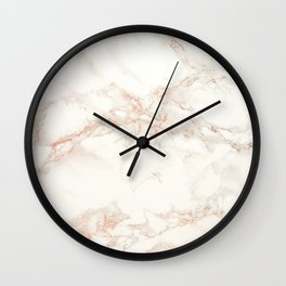 Marble rose gold Wall Clock