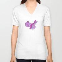 china V-neck T-shirts featuring China by mthbt