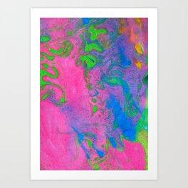 Marbling, Tie Dye Effect Abstract Pattern Art Print