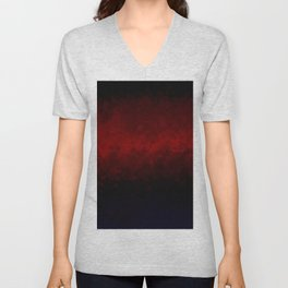 Crimson abstract Unisex V-Neck