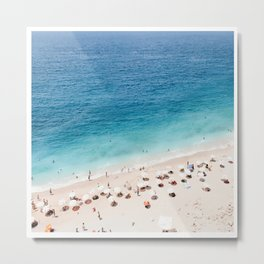 Areal Beach Photography Metal Print