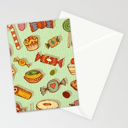 candy and pastries Stationery Cards