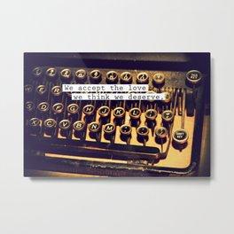 Perks OF a typewritter Metal Print