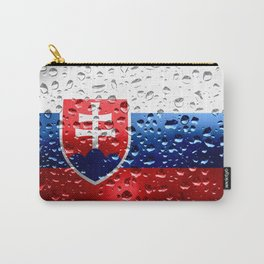 Flag of Slovakia - Raindrops Carry-All Pouch