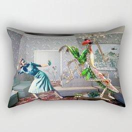Mantis Encounter Rectangular Pillow