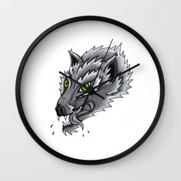 Trad Wolf Wall Clock