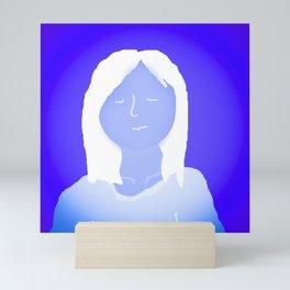 Blue In The Face Alien Mini Art Print