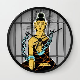 Incarcerated Buddha Wall Clock