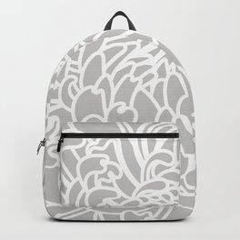 Gray Chrysanth Backpack