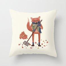 Ferdinand the Fall Fox Throw Pillow