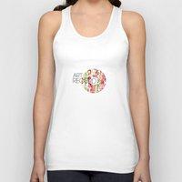 record Tank Tops featuring Art Record by kartalpaf