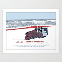 eternal sunshine of the spotless mind Art Prints featuring Eternal Sunshine Of The Spotless Mind by Ted Takeshi Doré