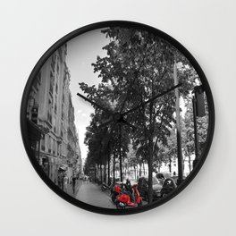 The Streets of Paris Wall Clock