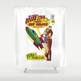Roger & Lily adventures Shower Curtain