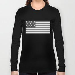 National flag of the USA, B&W version Long Sleeve T-shirt