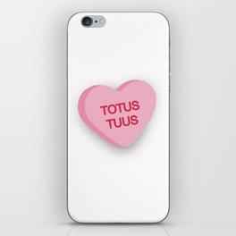 Catholic Conversation Heart Totus Tuus iPhone Skin