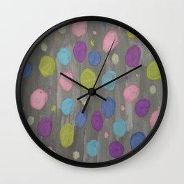 Pastel Bubbles Abstract Wall Clock