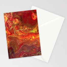Acrylic Pour #45 Lava-Love Stationery Cards