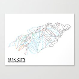 Park City, UT - Minimalist Trail Art Canvas Print