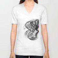 phoenix V-neck T-shirts featuring Phoenix. by sonigque