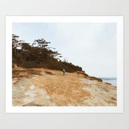 On the Cliffs Art Print