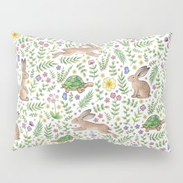 Spring Time Tortoises and Hares Pillow Sham