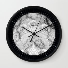 Foliated Marble as a Geometric Map of the Universe Wall Clock
