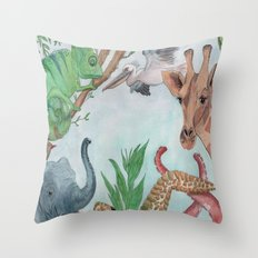 Animals of the World Throw Pillow