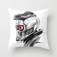star lord Throw Pillows featuring Star Lord by Dik Low
