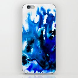 Paint 8 abstract indigo watercolor painting minimal modern canvas art affordable home decor trendy iPhone Skin