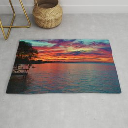 Sunset on Lake St. Clair in Belle River, Ontario, Canada Rug