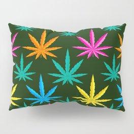 Colorful Marijuana weed Pillow Sham