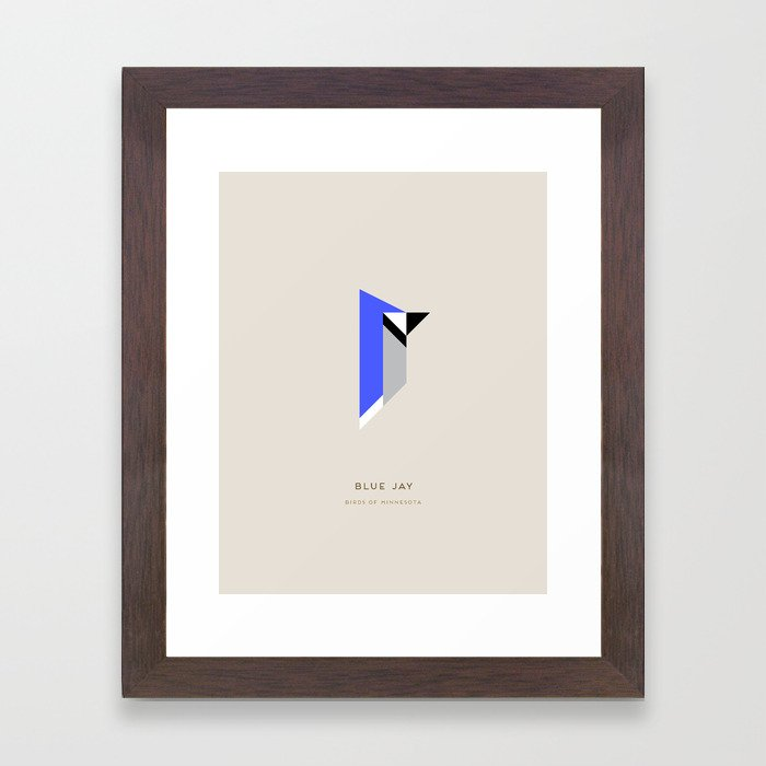 Blue Jay Framed Art Print