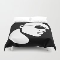 allyson johnson Duvet Covers featuring The Rock Dwayne Johnson  by jasonarts