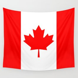 The National Flag of Canada, Authentic color and 3:5 scale version  Wall Tapestry