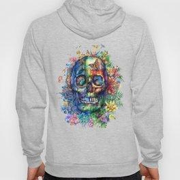 floral tropical skull Hoody