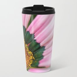 Gazania Heart Macro Metal Travel Mug