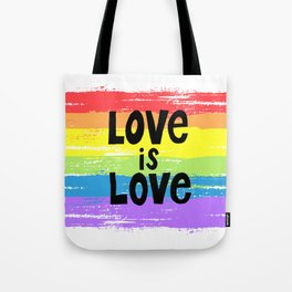 Love is love over the rainbow Tote Bag
