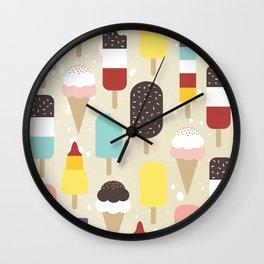 Ice Lollies & Frozen Treats Wall Clock